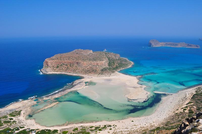 Gramvousa beach Kissamos in Chania Crete